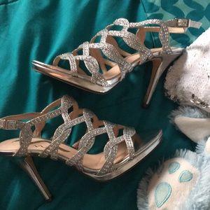Sliver 3 inch heels